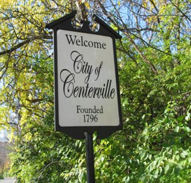 CIty of Centerville Sign